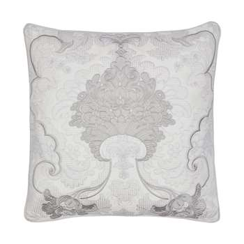 Marcette Embroidered Silver Cushion (H43 x W43cm)