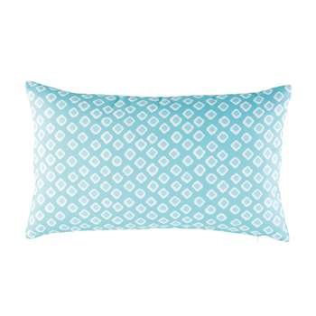 MARCONI Blue Outdoor Cushion with White Graphic Motifs (30 x 50cm)