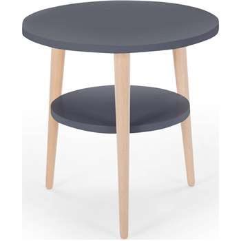 Marcos Side Table, Natural and Grey (45 x 45cm)
