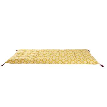 MARGA Yellow Cotton Futon with White Graphic Print (H90 x W190cm)
