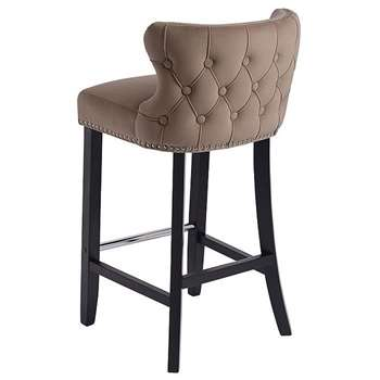 Margonia Barstool Taupe (H94 x W48 x D50cm)