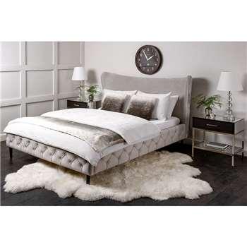 Margonia Bed - Silver (H120 x W152 x D202cm)