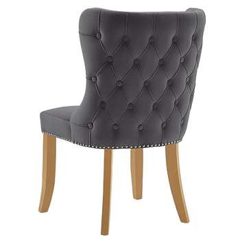 Margonia Dining Chair - Storm Grey - Natural legs (H92 x W57 x D65cm)