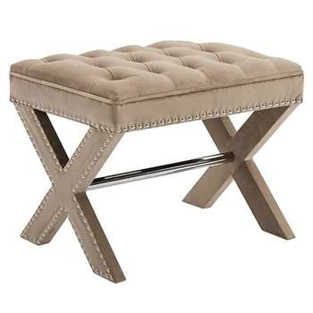 Margot Stool Taupe (H43 x W50 x D26cm)