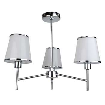 Marilla 3 Light Ceiling Light Polished Chrome (H40 x W50 x D50cm)