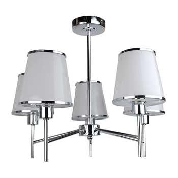 Marilla 5 Light Ceiling Light Polished Chrome (H40 x W50 x D50cm)