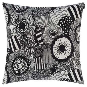 Marimekko - Pieni Siirtolapuutarha Cushion Cover - Off White/Black (H50 x W50cm)