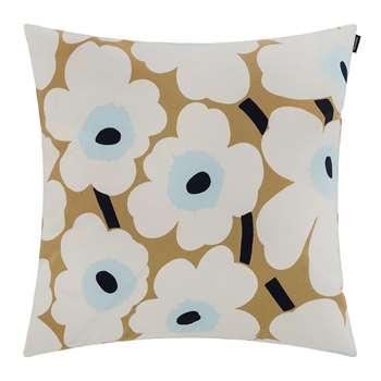 Marimekko - Pieni Unikko Cushion Cover - Beige/White/Blue (50 x 50cm)