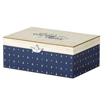 MARIN Dual-Tone Printed Storage Box (H8.5 x W22 x D15cm)