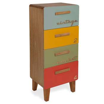 Market Small Unit With Ed Drawers In Multicoloured (70 x 31cm)