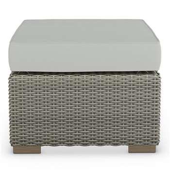 Marlow Footstool Grey (H30 x W60 x D60cm)