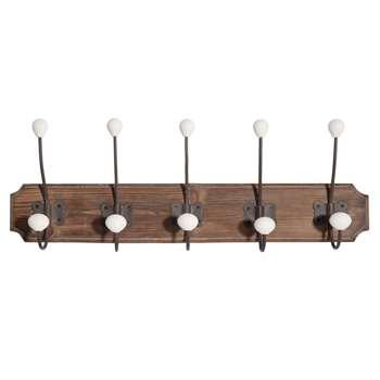 MARRONNIER wooden 5-hook coat rack