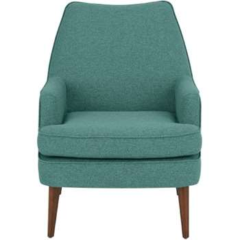 Martha Accent Chair, Glass Blue (72 x 69cm)