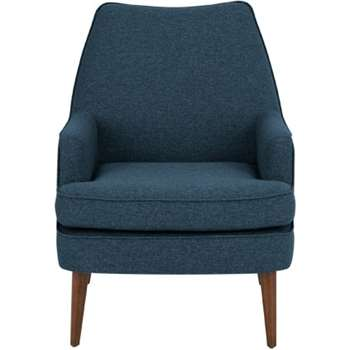 Martha Accent Chair, Orleans Blue (72 x 69cm)