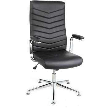 Martinez Executive Height Adjustable - Office Chair - Black (114 x 52cm)