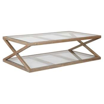 Marylebone Solid Oak Coffee Table, Small - Weathered Oak (40 x 140cm)