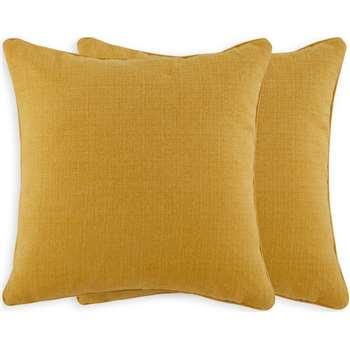 Marzia Set of 2 Cushions, Dark Mustard (H44 x W44cm)