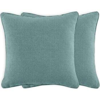 Marzia Set of 2 Cushions, Sky Blue (H44 x W44cm)