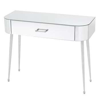 Mason Mirrored Console Table – Shiny Silver Legs (H80 x W100 x D40cm)