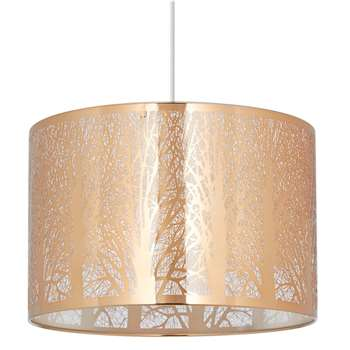 Mason Pendant Light Shade Copper (H20 x W30 x D30cm)