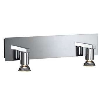 Massive by Philips Aqua 2 Light Wall Light Polished Chrome (H12.5 x W42 x D10.5cm)
