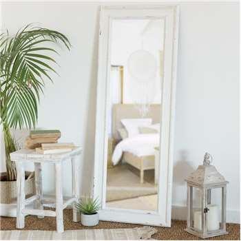 MATHILDE Paulownia Mirror in White (130 x 50cm)