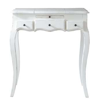 MATHILDE Wooden dressing table in white (79 x 70cm)