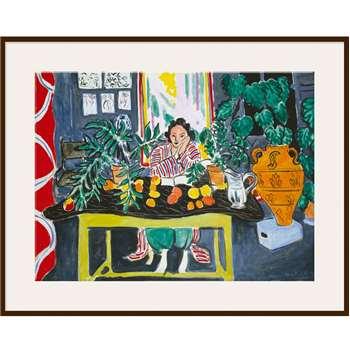 Matisse - Interior with Etruscan Vase - Dark Frame 60 x 80cm