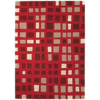 Matrix Hand-Woven Red Area Rug (160 x 230cm)