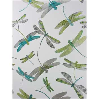 Matthew Williamson Dragonfly Dance Wallpaper, Jade/Kiwi, W6650-01 (H1000 x W52cm)