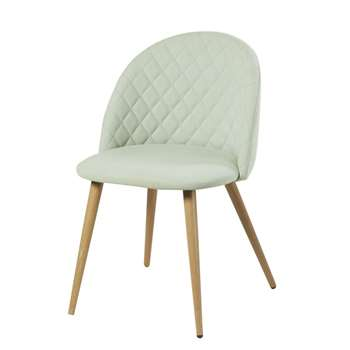 MAURICETTE Light Green Vintage Chair (H78 x W50 x D55cm)