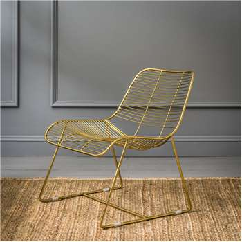 Maurizio Linear Lounger In Gold (62 x 68cm)