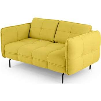 Maverick 2 seater sofa, Mustard Yellow (84 x 158cm)