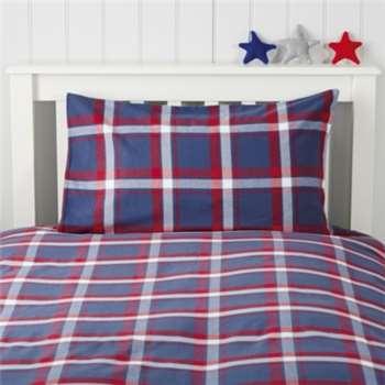 Max Check Flannel Bed Linen, Standard (50 x 75cm)
