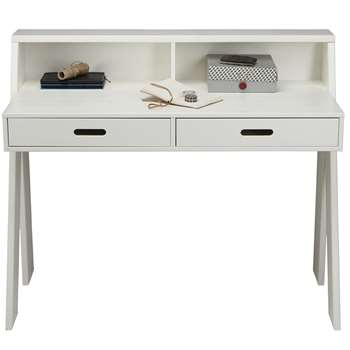 Max Contemporary Kids Desk in White Pine (Width 112cm)