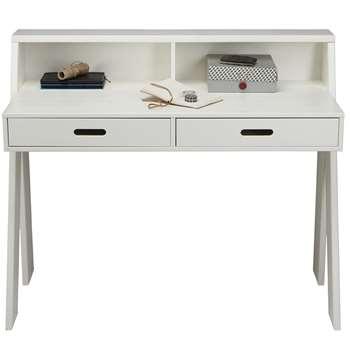 Max Contemporary Kids Desk in White Pine (Width 112cm)