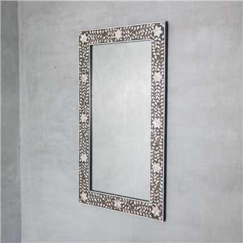 Maxi Grey Mother Of Pearl Mirror (H120 x W70cm)