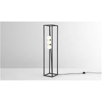 Maxie Floor Lamp, Black and Frosted Glass (H96 x W20 x D20cm)