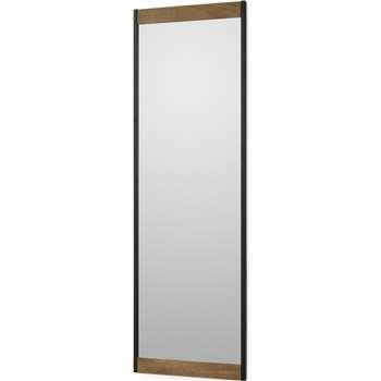 Maxine Full Length Mirror, Mango Wood & Black (H120 x W40 x D2cm)