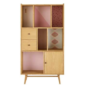 MAYA Printed 1-Door 2-Drawer Bookcase (159 x 85cm)