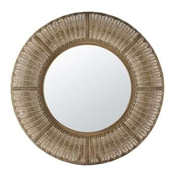 MAZAN - Rattan Mirror (Diameter 100cm)