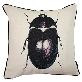 McAlister Textiles Black Beetle Bug Tapestry Cushion Cover