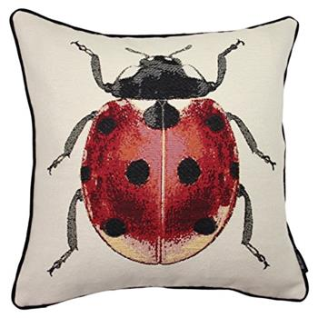 McAlister Textiles Ladybird Tapestry Cushion Cover (43 x 43cm)