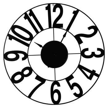 MEADOW metal industrial clock in black (110 x 110cm)