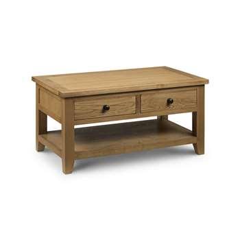 Medford Oak 2 Drawer Coffee Table (50 x 100cm)