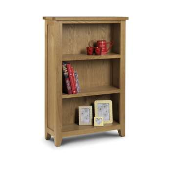 Medford Oak Low Bookcase (H120 x W80 x D30cm)