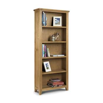 Medford Oak Tall Bookcase (H190 x W80 x D30cm)