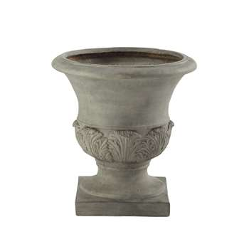 MEDICIS resin garden urn in grey (46 x 45cm)