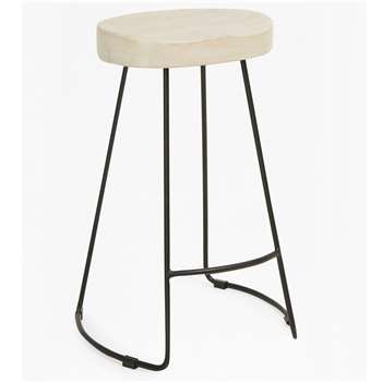 Medium Roger Bar Stool - Blonde (H60 x W45 x D35cm)
