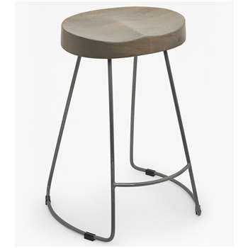 Medium Roger Bar Stool - Salvage Grey (45 x 35cm)